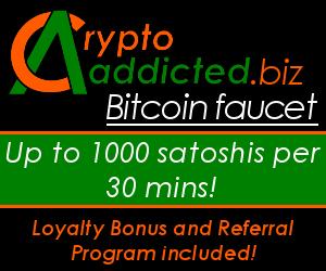 Bitcoin Faucet - CryptoAddicted