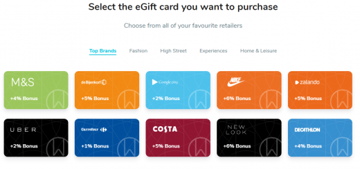 Coinbase crypto eGift cards