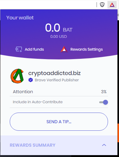 Brave Browser: Give a TIP to CryptoAddicted