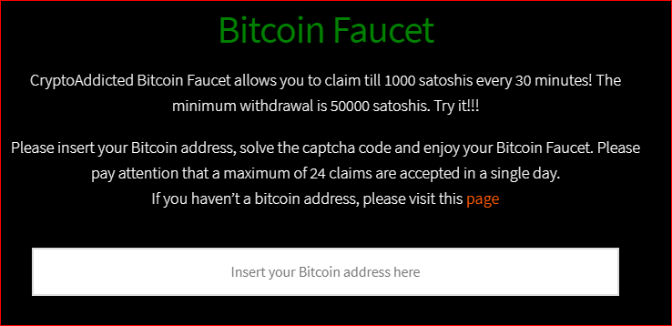 What is a bitcoin faucet: insert your bitcoin address